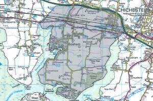 Target area around Bosham